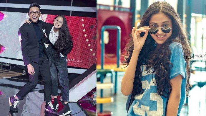 Pembawa acara Ramzi dan anak semata wayangnya Asila Maisa Fatihah.