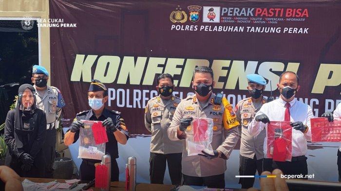Bea Cukai dan Polres Tanjung Perak Ungkap Penyelundupan Narkotika Asal Malaysia
