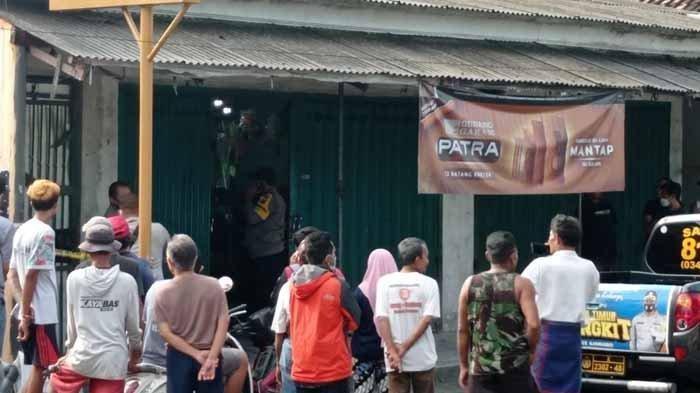 Lokasi toko sembako tempat pembunuhan keji terhadap Bisri Efendi di Desa Jatinom, Kecamatan Kanigoro, Kabupaten Blitar, Jawa Timur, Sabtu (27/2/2021).