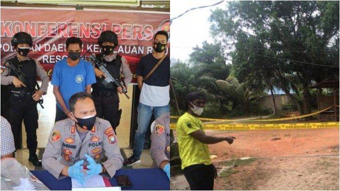 Pelaku Pembunuhan Janda 2 Anak di Bintan Ditangkap Polisi, Sempat Kabur ke Hutan. Foto Kapolres Bintan, AKBP Bambang Sugihartono saat menggelar konferensi pers pengungkapan kasus pembunuhan janda dua anak di Mapolres Bintan, Kamis (5/8/2021).