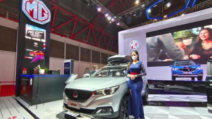 MG Motor Indonesia Pamerkan Mobil Listrik ZS EV di IIMS 2021