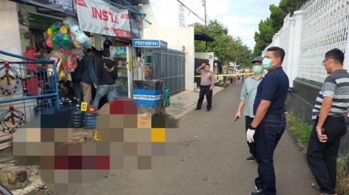 Lokasi tewasnya pemilik warung klontong di Jalan Putri Tunggal, Cimanggis, Kota Depok, Rabu (1/4/2020)