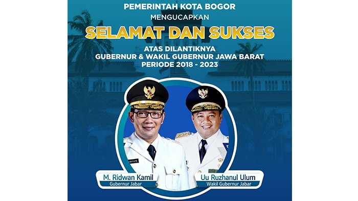 Gubernur Dan Wakil Gubernur Resmi Dilantik Pemkot Bogor Beri Ucapan Selamat Tribunnews Com Mobile