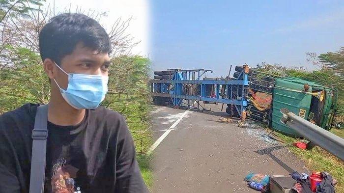 Pemudik Asal Jakarta Ikut Jadi Korban Kecelakaan, Truk yang Ditumpangi Terguling di Tol Cipali