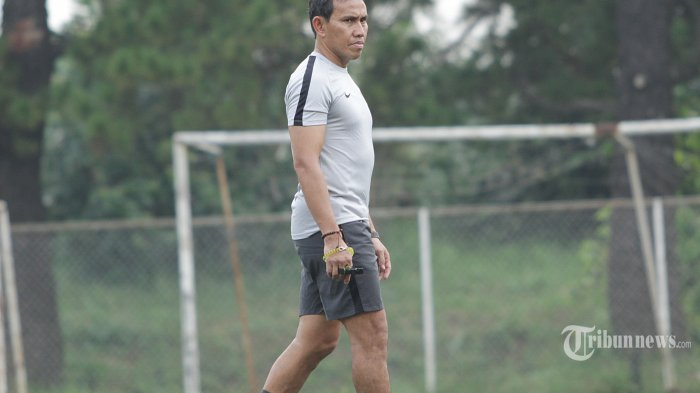 Sejumlah pemain timnas U-16 mengikuti pemusatan latihan di National Youth Training Center (NYTC), Sawangan, Depok, Jawa Barat (13/5/2019) Tim nasional U-16 asuhan Bima Sakti disiapkan untuk bermain dalam turnamen AFF U-16 pada  27 Juli 2019. (Warta Kota/Feri Setiawan)