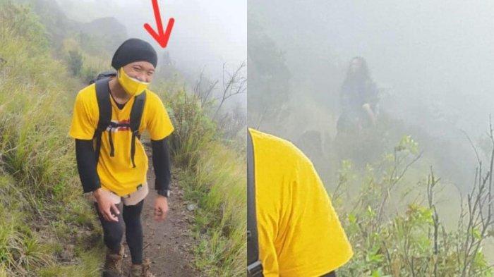 VIRAL Pria Mengira Ada Penampakan saat Berfoto di Gunung Sumbing, Ternyata Hanya Foto Ini