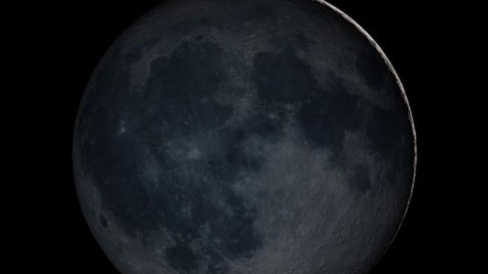 Penampakan bulan hitam.