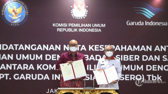 Persiapan Pemilu 2024, KPU RI Gandeng BSSN dan Garuda Indonesia