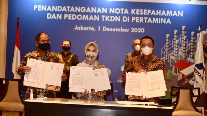 Kerja Sama Pertamina dengan BPPT, Sucofindo & Surveyor Indonesia Makin Perkuat Serapan TKDN