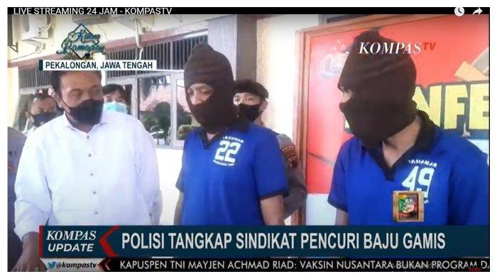 Spesialis Curi Baju Gamis, Lima Pelaku Ditangkap di Pekalongan Jawa Tengah