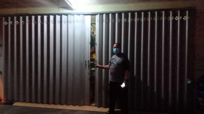 Kondisi toko sembako di Poncokusumo, Kabupaten Malang usai alami pencurian pada Kamis (14/1/2021).