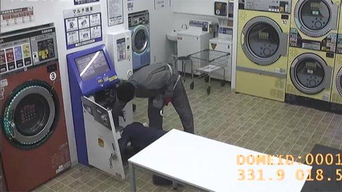Perampokan koin laundry 1 Oktober sekitar jam 23.00. Pencuri berhasil menggondol 300.000 yen uang tunai dari mesin pembayarannya yang dibongkar perampok.
