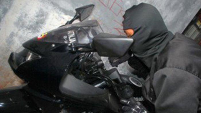 Sepeda Motor di Bekasi Digondol Maling Hanya dalam Hitungan Detik, Ini Videonya