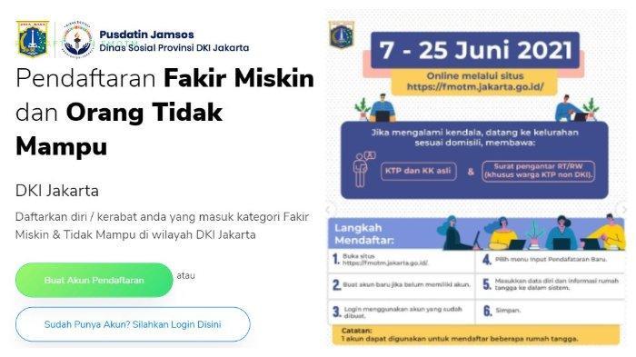 Panduan Pendaftaran Data Fakir Miskin dan Orang Tidak Mampu (FMOTM) DKI Jakarta, Siapkan KTP