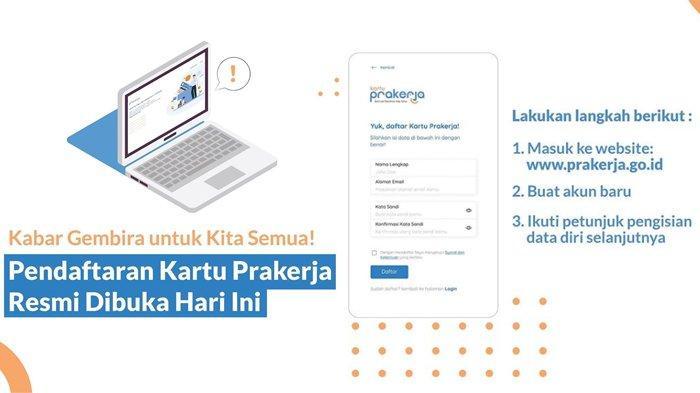 Segera Login Daftar Www Prakerja Go Id Hari Ini Ikuti Seleksi Online Hingga Pilih Pelatihan Tribunnews Com Mobile