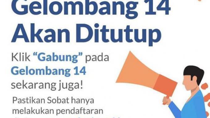 Pendaftaran Kartu Prakerja Gelombang 14 Ditutup Hari Ini Pukul 12.00 WIB, Ini Cara Cek Lolos Seleksi