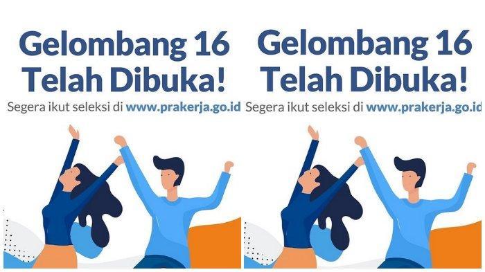 Segera Daftar Kartu Prakerja Gelombang 16, Akses www.prakerja.go.id, Ini Syaratnya