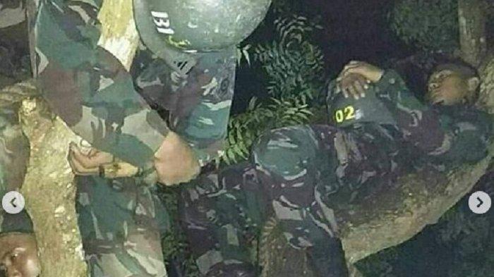 Tidur di Pohon dengan Badan Dililit Tali, Perjuangan TNI Hindari Binatang Buas saat Tengah Malam