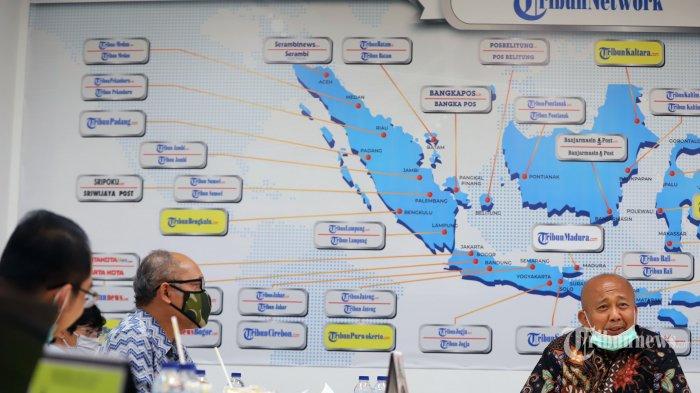 Komisaris Tribun Network Herman Dharmo saat memberikan kata sambutan pada acara pelepasan purna tugas Komisaris Tribun Network di Gedung Tribun, Palmerah, Jakarta Pusat, Selasa (30/6/2020). Tribunnews/Jeprima