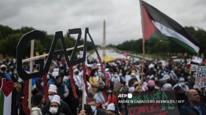 Massa Pro-Palestina di Washington Minta AS Hentikan Bantuan ke Israel hingga Ancam Lawan Politisi