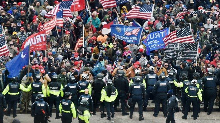 Kisruh Pendukung Trump di Gedung Capitol, WNI Diminta Waspada