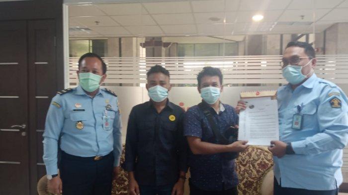 Peneliti LPHI beraudensi dengan pejabat Kemenkumham.