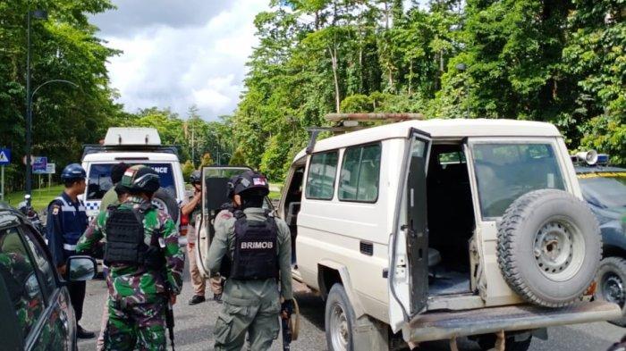 Suasana setelah terjadi penembakan di Freeport Indonesia, Timika