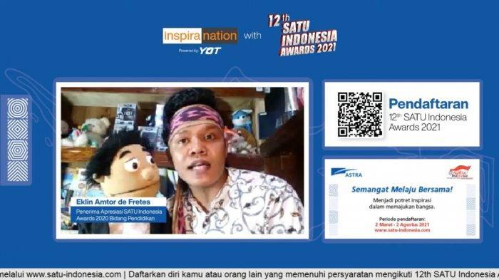 Penerima SATU Indonesia Awards 2020 Bidang Pendidikan Eklin Amtor de Fretes