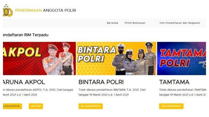LOGIN penerimaan.polri.go.id, Ini Tata Cara Pendaftaran Anggota Polri 2021 Akpol, Bintara & Tamtama