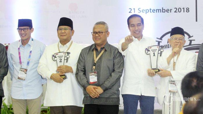 Survei Kompas Oktober 2018: Jokowi-Ma'ruf 52,6 Persen dan Prabowo-Sandi 32,7 Persen