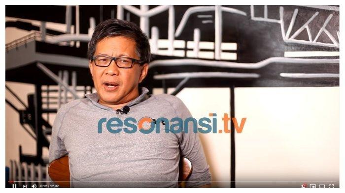 Pengamat Politik Rocky Gerung dalam channel YouTube Resonansi TV, Jumat (10/1/2020).
