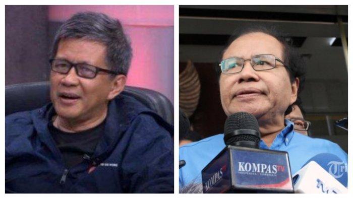 Pengamat Politik Rocky Gerung dan Pengamat Ekonomi Rizal Ramli.