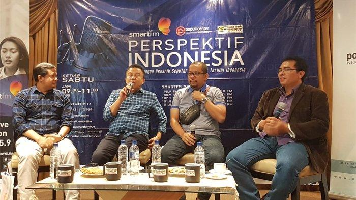 Pengamat politik dari Universitas Negeri Jakarta (UNJ), Ubedillah Badrun dalam sebuah diskusi di Cikini, Jakarta Pusat, Sabtu (12/10/2019).