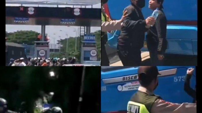 Screenshot video rekaman pengantar jenazah terobos tol reformasi Makassar. Sebelumnya diberitakan, beredar rekaman video rombongan pengantar jenazah menerobos jalan Tol Reformasi, Kota Makassar, Minggu pekan lalu.