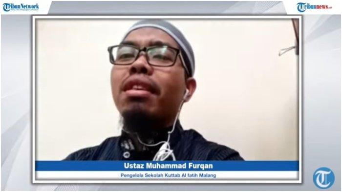 Pengelola Sekolah Kuttab Al Fatih Malang, Ustaz Muhammad Furqan dalam acara OASE Tribunnews.com bertajuk Panduan dan Keutamaan Salat Tahajud.