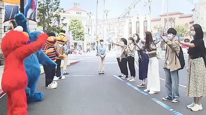 Pengenalan karakter baru di Universal Studios Japan (USJ) Osaka, Kamis (4/6/2020)
