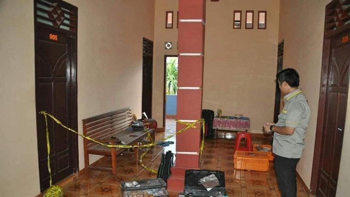 Penginapan lokasi pembunuhan dengan cara mutilasi terhadap korban Vera Oktaria