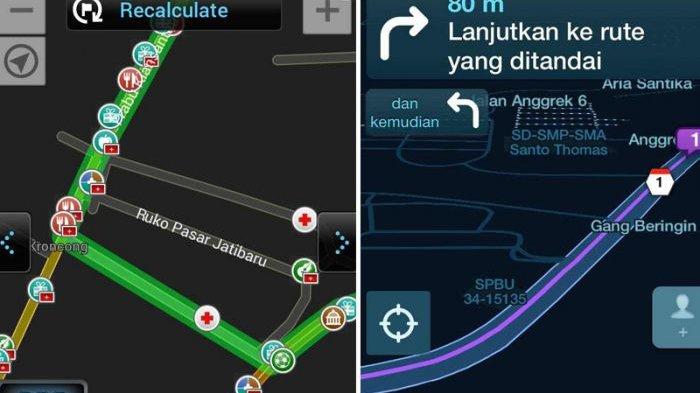 Menguji 4 Aplikasi Penunjuk Jalan Di Smartphone Mana Yang Paling Oke Tribunnews Com Mobile