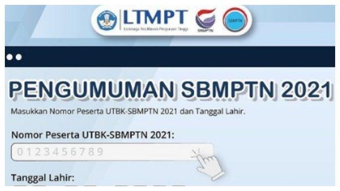 PENGUMUMAN Hasil Seleksi SBMPTN 2021, Login pengumuman-sbmptn.ltmpt.ac.id, Ini 30 Link Alternatif