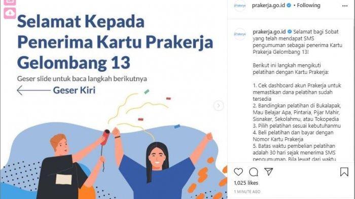 Login www.prakerja.go.id, Hasil Seleksi Kartu Prakerja Gelombang 13 Sudah Diumumkan