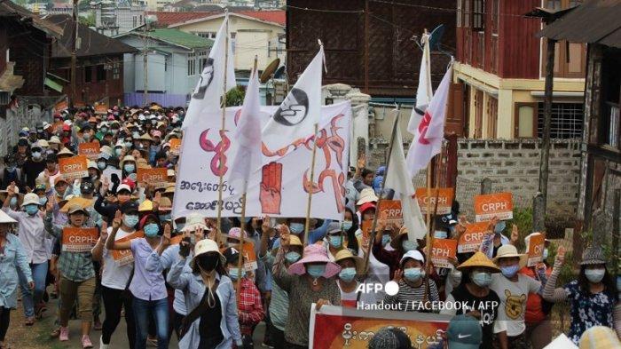 Junta Myanmar Klaim Demonstran yang Dibunuh Pasukannya 248 Orang, Beda dengan Catatan AAPP 614 Orang