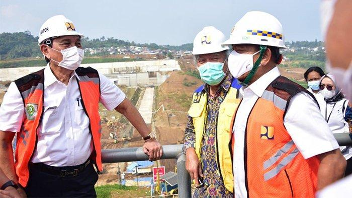Peninjauan lokasi pembangunan Bendungan Ciawi dilakukan Rabu (5/5/2021).