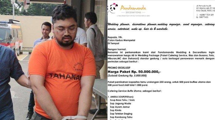 Tersangka dugaan penipuan dana jasa penyelenggaraan pernikahan, AS, ditangkap polisi di bilangan Pancoran Mas, Depok, Jawa Barat, Senin (3/2/2020) lalu.