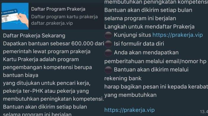 Penipuan Pendaftaran Kartu Prakerja Gelombang 11