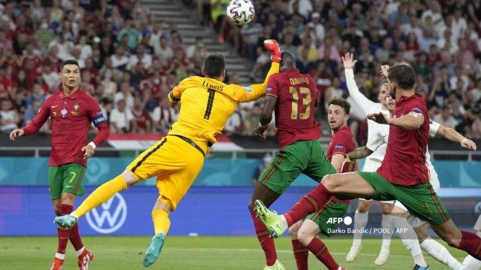 Babak I Portugal vs Prancis Euro 2021: Diwarnai Tinjuan Lloris, 2 Gol Penalti, Benzema Pecah Telur