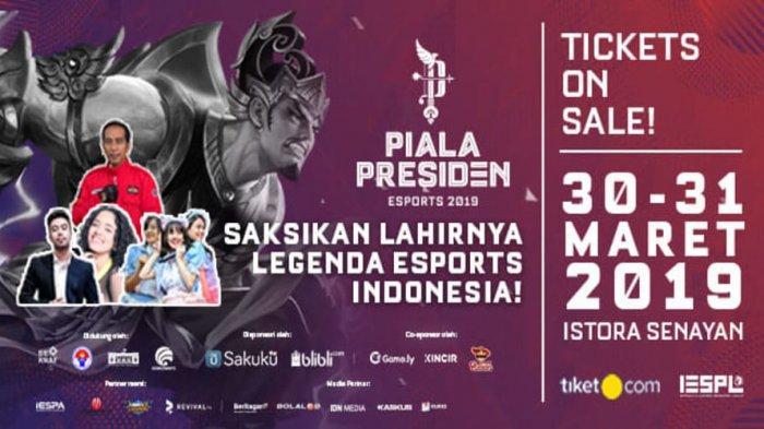 Penjualan Tiket Final Piala Presiden Esports 2019 Sudah Dibuka, Harga Mulai Rp 20 Ribu