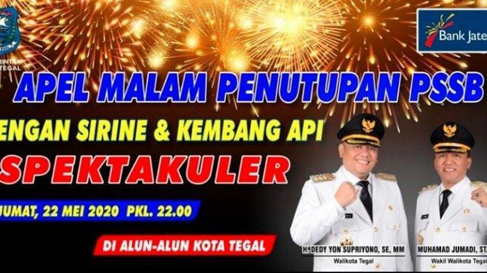 Kota Tegal Segera Tutup PSBB dengan Pesta Kembang Api di Alun-alun, Warga Diminta Tak Datang