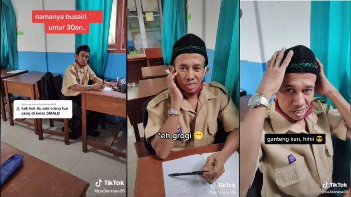 Kisah Busairi, Siswa SLB yang Tetap Semangat Bersekolah, Bawa Rapor dan Iqra Tiap Hari hingga Lecek