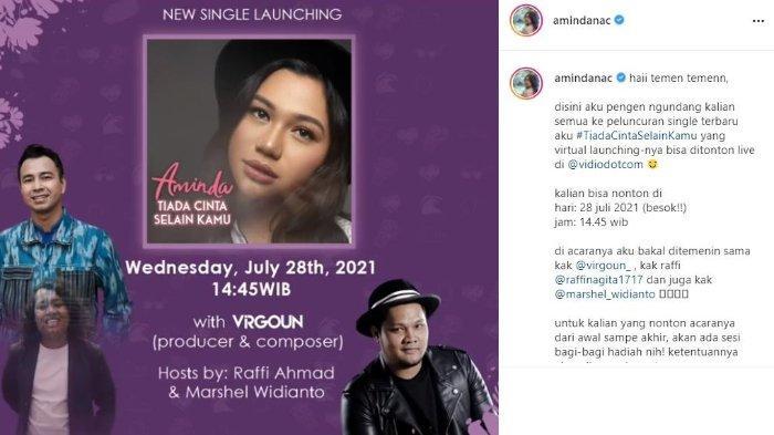 Penyanyi Aminda Chinika bakal rilis lagu terbaru, Rabu 28 Juli 2021 besok.