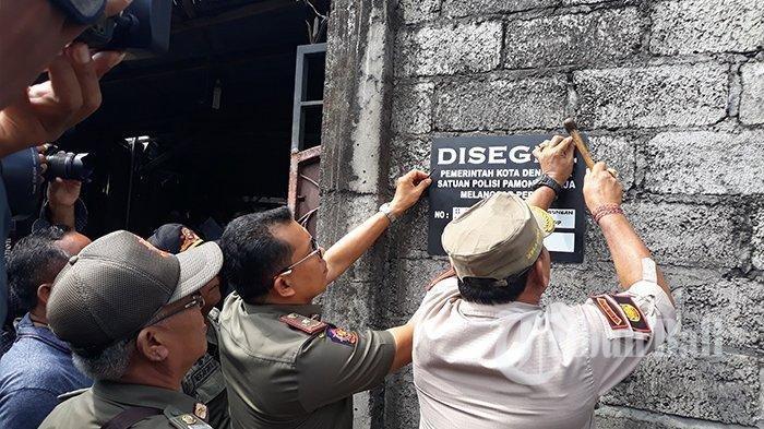 BREAKING NEWS Usaha Sablon yang Bikin Tukad Badung Jadi Merah Darah Disegel Satpol PP Denpasar